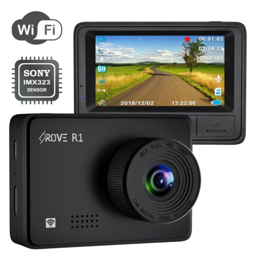 Rove R1 Dash Cam 1080P Sony IMX323 Built-In Wi-Fi Car Dash Camera Supercapacitor