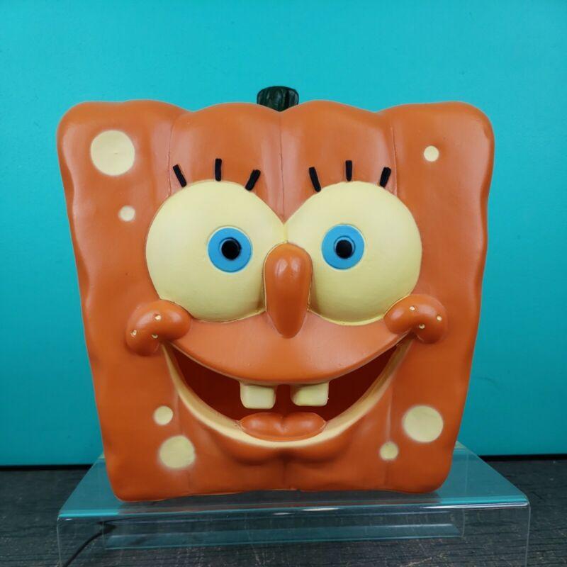2011 SpongeBob SquarePants Pumpkin Jack O Lantern Face Lighted Blow Mold