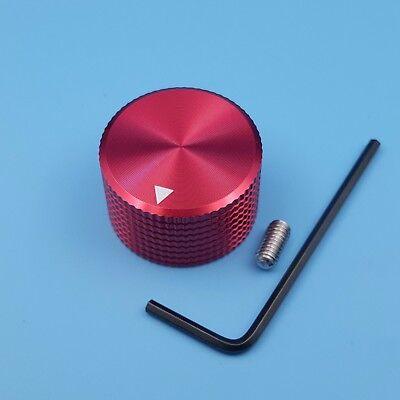 Red 25 X 15.5mm Aluminum Rotary Control 6mm Dia Potentiometer Cap Knob