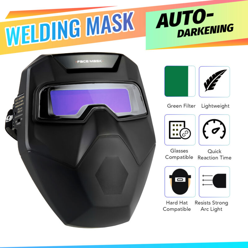 Auto Darkening Welding Glasses Welder Mask Welding Helmet for TIG MIG Plasma Arc
