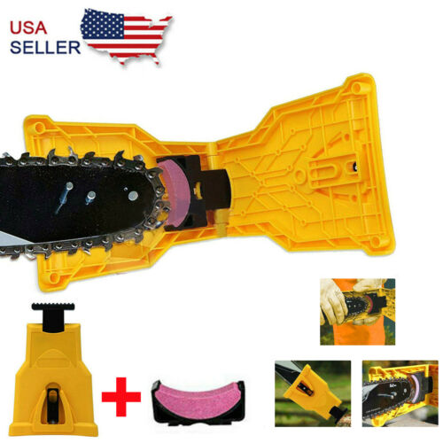 Chain Saw Teeth Sharpener Bar Mount Professional Woodworking Sharpening Tool Kit Chainsaw Parts