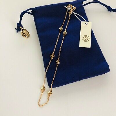 BRAND NEW WITH TAGS Tory Burch Gold Kira Logo Choker Necklace