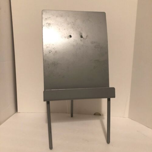 Metal Gray Book Stand 3 Feet Holder Display for Heavy Books Reading Decor Desk