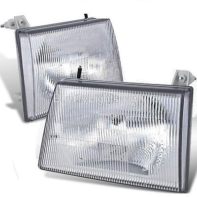 JAYCO EAGLE 1999 2000 2001 MOTORHOME PAIR HEADLIGHTS HEAD LIGHT FRONT LAMPS RV