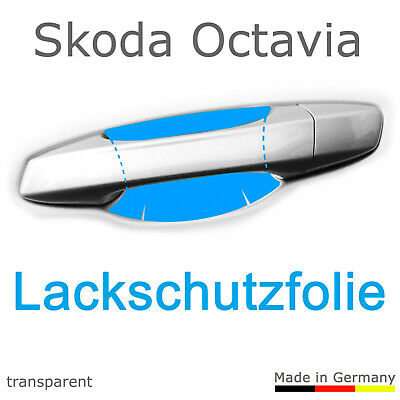 Schutzfolie Aufkleber Türgriff Griffmulde / Skoda Octavia 5E Bj. 2013 - 2019