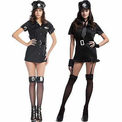 Uniform Fan Role Play Costume Hot Sexy Police Girl Lingerie Halloween Suit Dress (Fangirl Halloween Costumes)