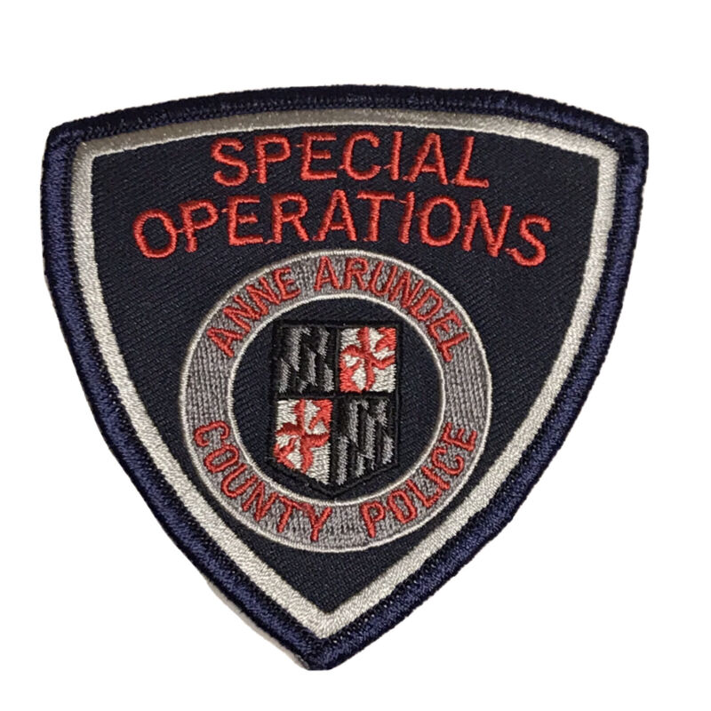 Anne Arundel County Police Special Operations Patch - Maryland Swat ERT Subdued