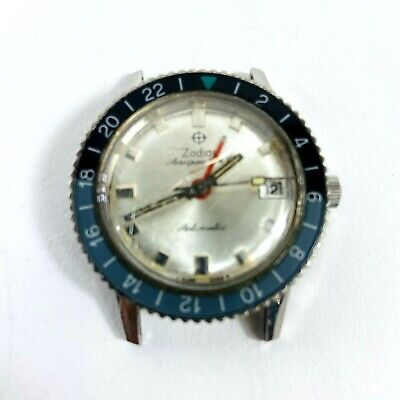 Vintage Zodiac Aerospace GMT Automatic Sport Military Watch Bakelite Mens