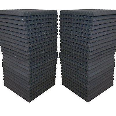 48 Pack - Acoustic Panels Studio Soundproofing Foam Wedge Tiles 1x12x12