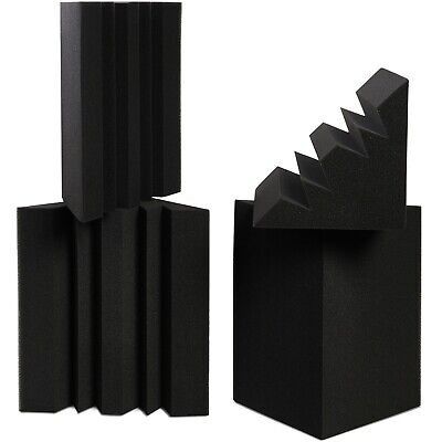 4 Pack Acoustic Bass Traps Studio Foam Corner Wall,12'' x 7'' x 7''In | BabuTrap