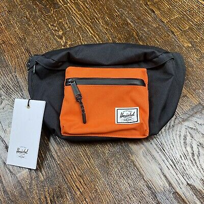 Herschel Supply Co Seventeen Hip Pack Black Orange Fanny Pack Crossbody Bag