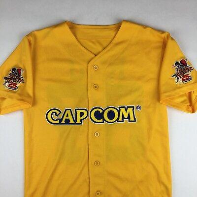 Street Fighter CAPCOM 25th Anniversary Baseball Jersey Shirt Ryu Mens XS X-Small