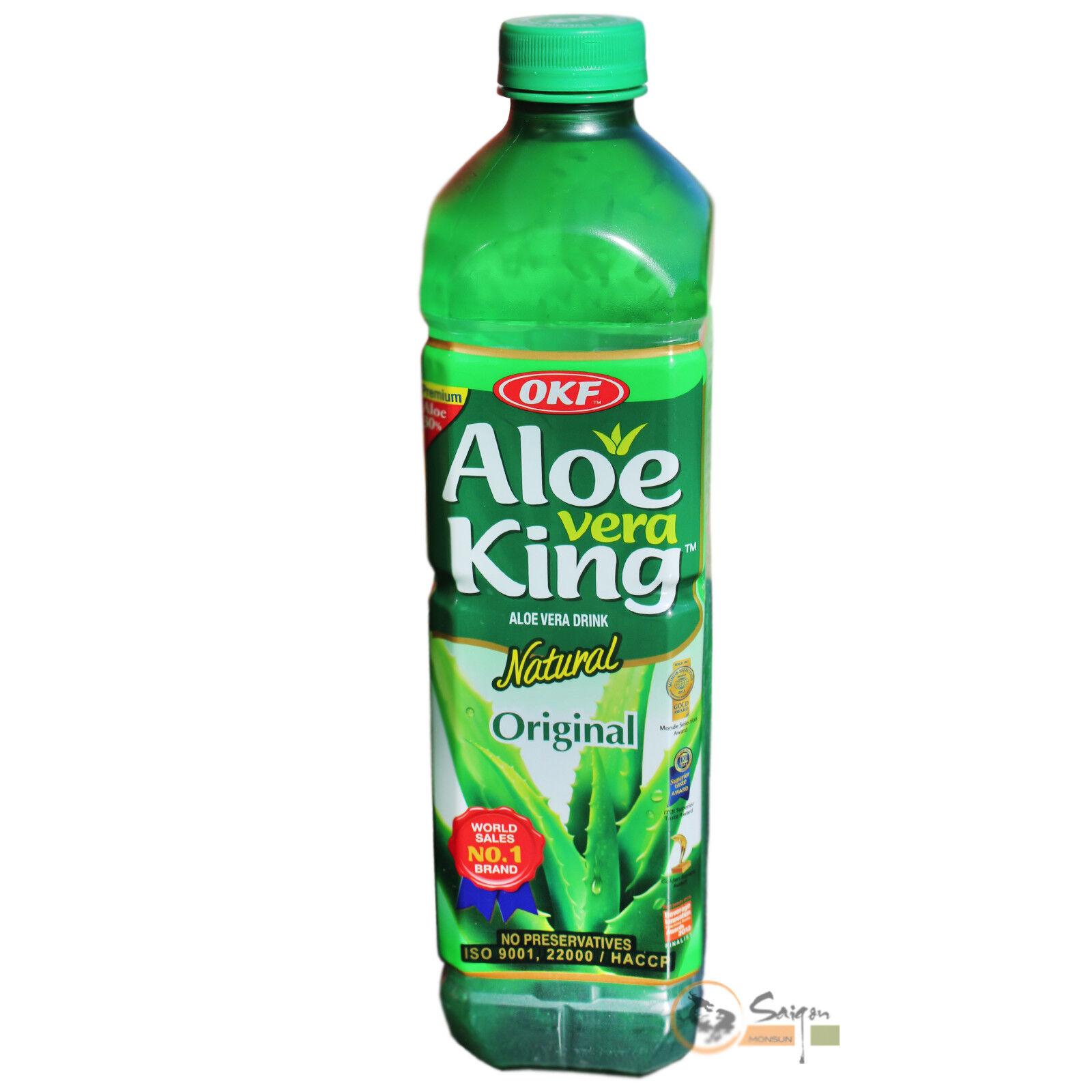 12x1,5L OKF Aloe Vera King Getränk Drink Saft mit Fruchtfleisch Koreas No. 1