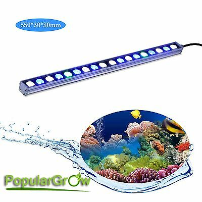 Waterproof 54W LED Aquarium Lamp Strip Bar light Coral Reef Fish Tank Lighting