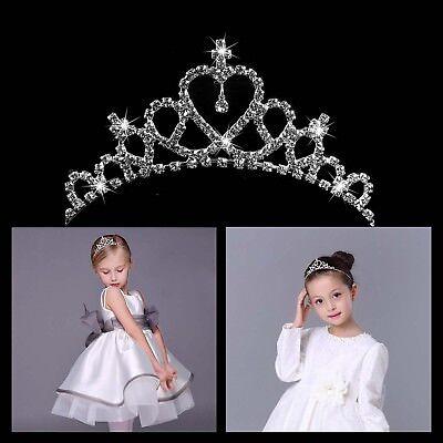 Rhinestone Crystal Tiara Hair Band Kid Girl Bridal Princess Prom Crown - Child Tiara