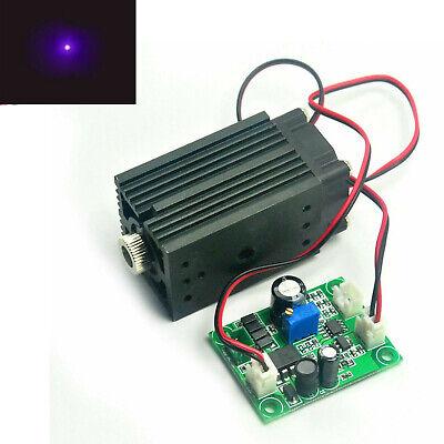 405nm 100mw Violetblue Focusable Dot Laser Diode Module Ttl Driver Fan 12v