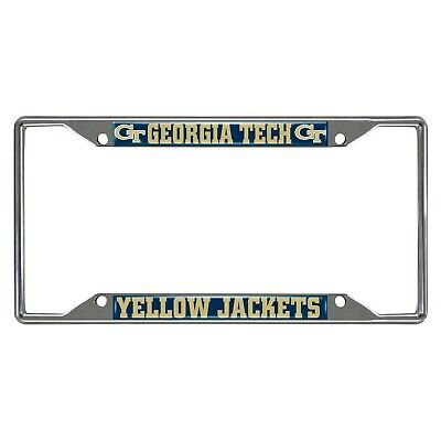 Fanmats NCAA Georgia Tech Yellow Jackets Chrome License Plate Frame Del 2-4 Days Georgia Tech Yellow Jackets Framed