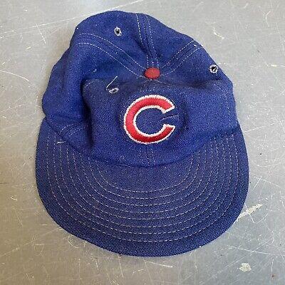 1950s Hats: Pillbox, Fascinator, Wedding, Sun Hats vtg chicago cubs 1950's fitted hat cap wool rare 50's $199.99 AT vintagedancer.com