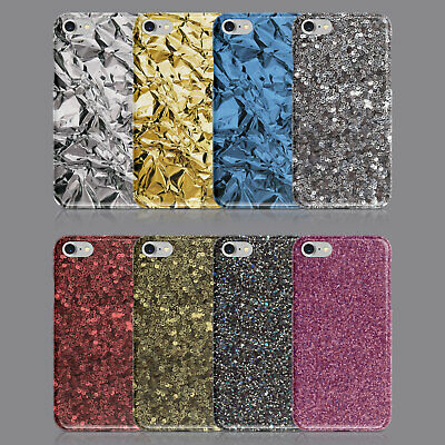 METALLIC GOLDEN PHONE CASE FOR IPHONE 5S SE 6S 7 8 XS XR SAMSUNG S8 S9 PLUS