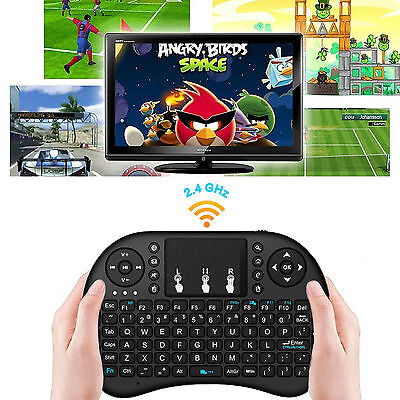 i8 2.4Ghz Mini Wireless Keyboard Remote Controls Touchpad + Manual for TV Box PC
