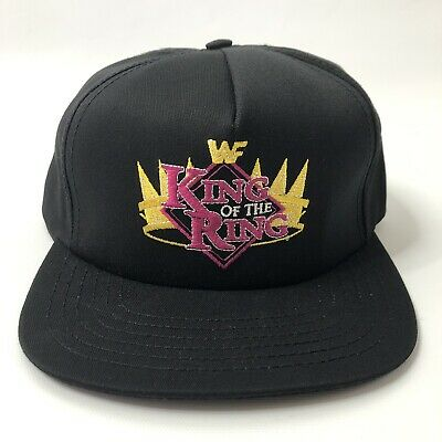 WWF King Of The Ring Black Snapback Hat Vintage New Owned By Roddy Piper