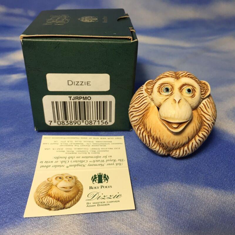 """NEW Harmony Kingdom Roly Polys """"Dizzie"""" Chimp Monkey Box Figurine TJRPMO NIB"""