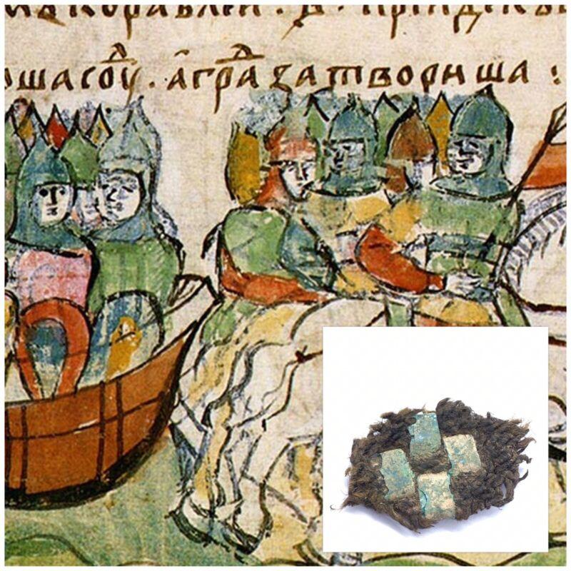 ANCIENT VIKING CLOTHING STARAJA LADOGA 8-10th CENTURY RARE ARTIFACT