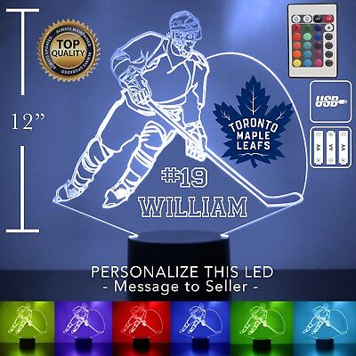 Toronto Maple Leafs Night Light Personalized FREE NHL Hockey Light Up LED (Toronto Maple Leafs Light)