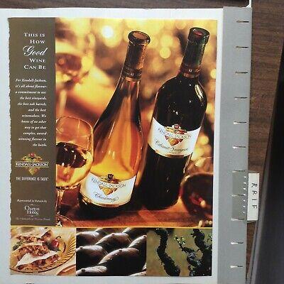 Kendall - Jackson Wine Alcohol Advertisement Vintage 2000