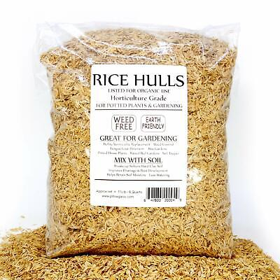 Rice Hulls - Organic Use - Weed Free 1½ lb Bag Bedding Garden Plants (Rice Hull Garden)