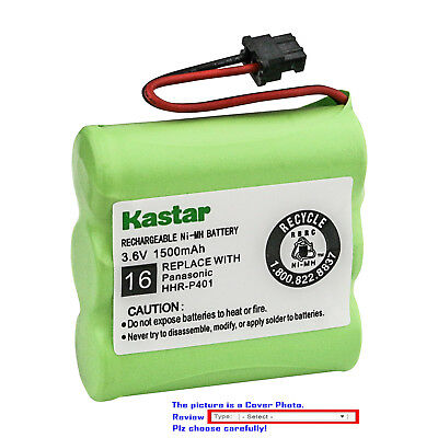 Kastar Battery Compatible with Panasonic HHR-P401 HHR-P401A Cordless Battery