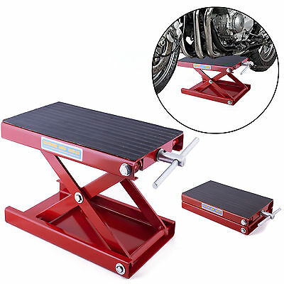 500KG Motorcycle Motorbike Bike Stand Scissor Lift Jack Paddock Workshop Bench