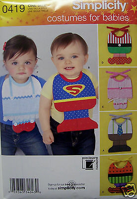 Clearance Halloween Costumes for Babies Simplicity 0419 Paper Sewing Pattern NIP