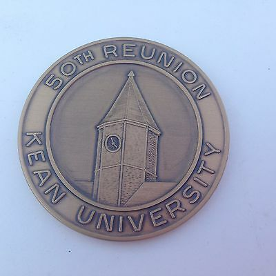 Bronze Kean University New Jersey 50Th Reunion Coin Paperweight Wow