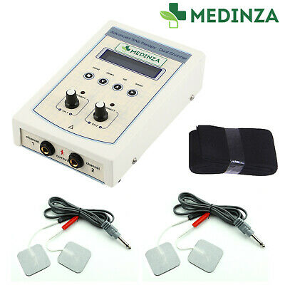 Electric Electrotherapy 2 Channel Machine Muscle Pain Relief Physio Therapy Unit