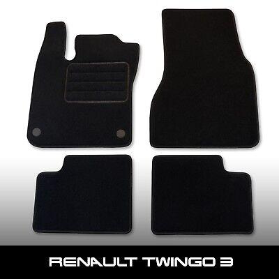 Fußmatten Renault Twingo 1 I 1993-2007 Passform Autoteppich Schwarz 4-tlg.