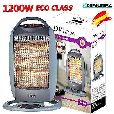 Calefactor Eléctrico Halógeno 1200W ECO CLASS Oscilante Estufas Electricas Casa