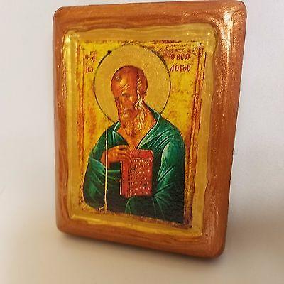 Saint John The Theologian Agios Ioannis Theologos Greek Orthodox Icon On Wood