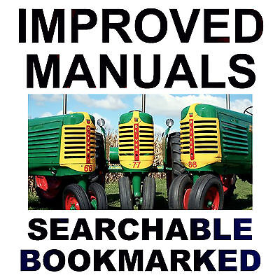 Complete Oliver Fleetline Super Row Crop Tractor Service Manual - Searchable Dvd