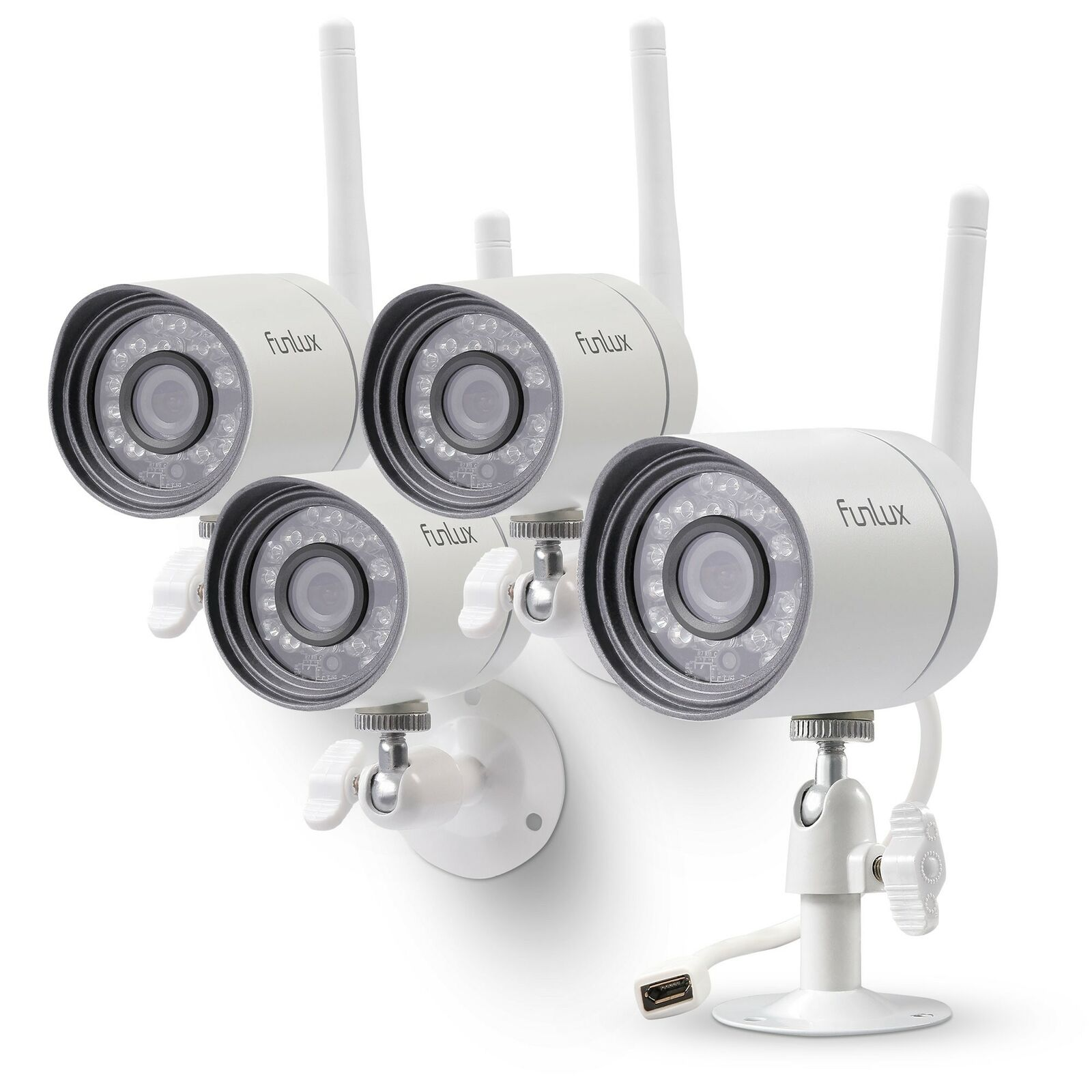 Funlux Wireless Security Camera System  Smart Home HD Indoor Outdoor WiFi 3 PACK