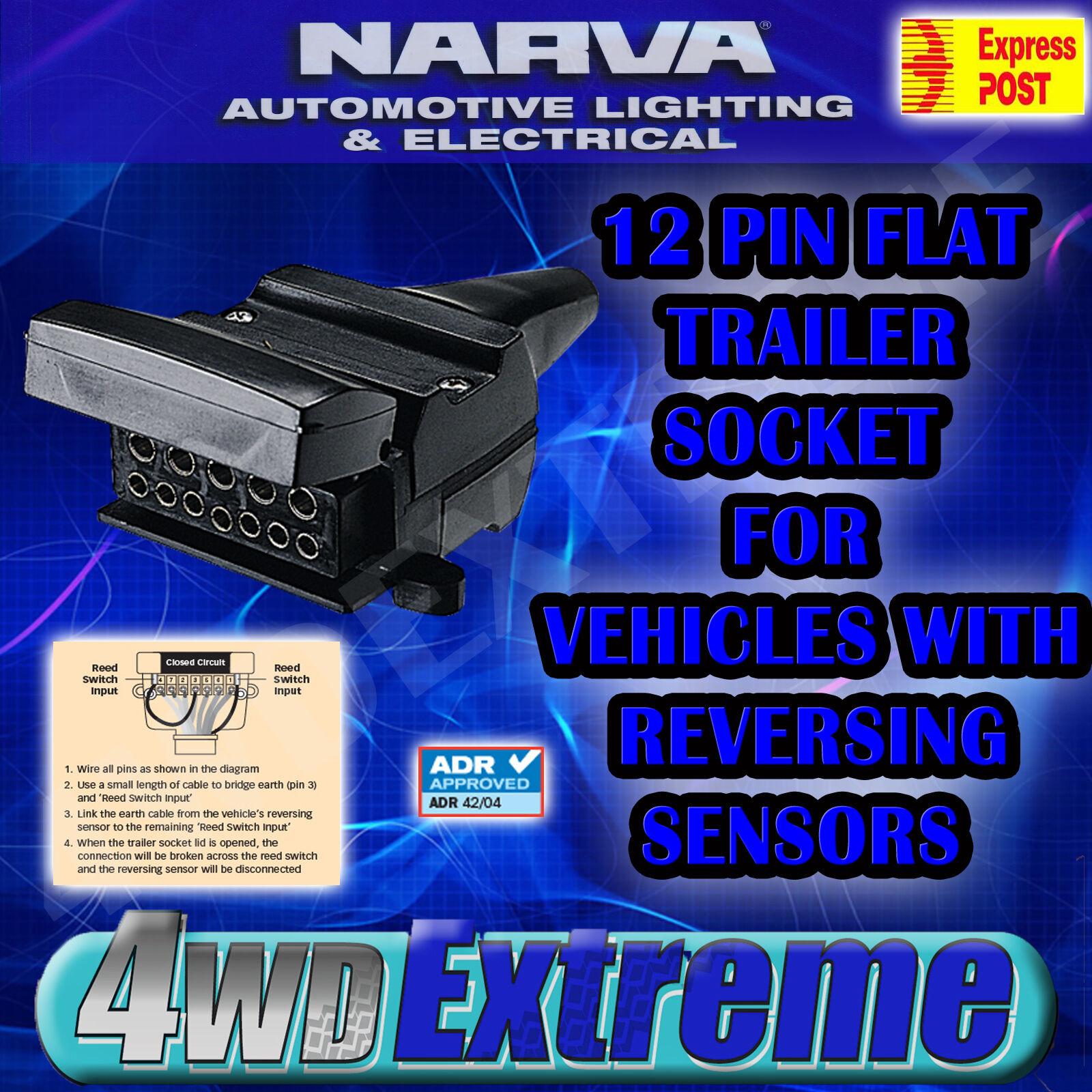 narva 12 pin flat female plug connector normally closed for sensor narva 82073bl