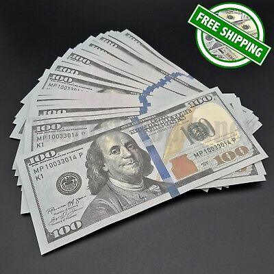 THE BEST PROP MONEY - 25x $100 Bills - $2,500 Play Fake Funny Prank Joke Money