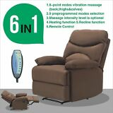 Ergonomic Lounge Heated Microfiber Massage Recliner Sofa Chair with Control