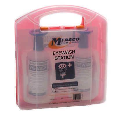 Eye Wash Station Packed in Plastic Kit 16 Oz Double MFA Double Eye Wash Station