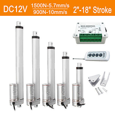 Dc12v 2-18 Linear Actuator Electric Motor For Auto Lift 1500n900n Heavy Duty
