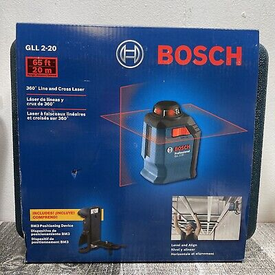 Bosch Gll 2-20 360 Line And Cross Laser Level New Free Shipping