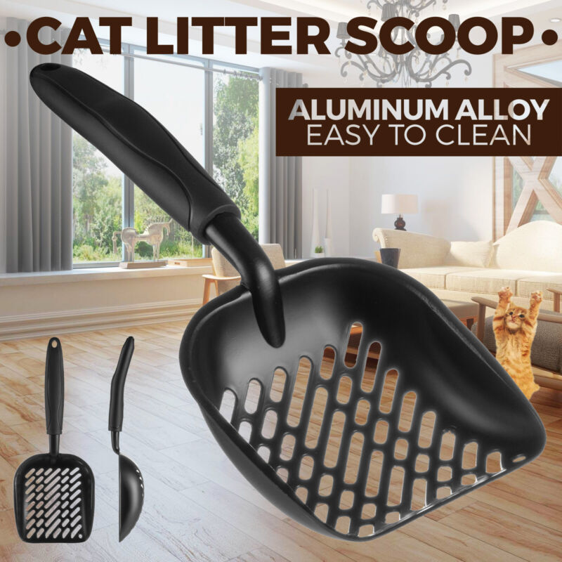 Cat Litter Scooper Metal Scoop Sifter Deep Shovel Cleaner Tool for Cleaning Box