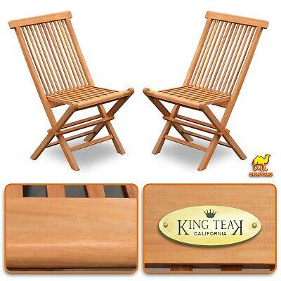 King Teak Golden Teak Wood Folding Chair Outdoor Patio Garden Yard Folding Seat  ()