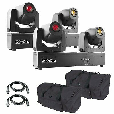 2 Chauvet DJ Intimidator Spot Duo 155 Dual LED Moving Heads + Cases + DMX Cables