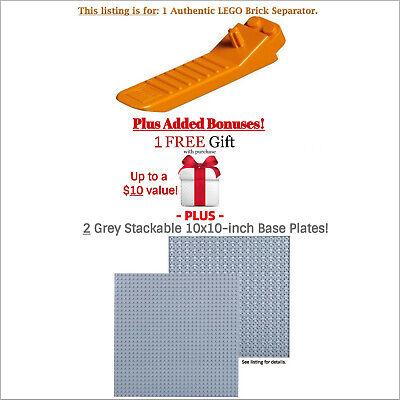 1 Authentic LEGO Separator. Plus Bonuses 2 Grey 10x10 Baseplates and 1 FREE GIFT